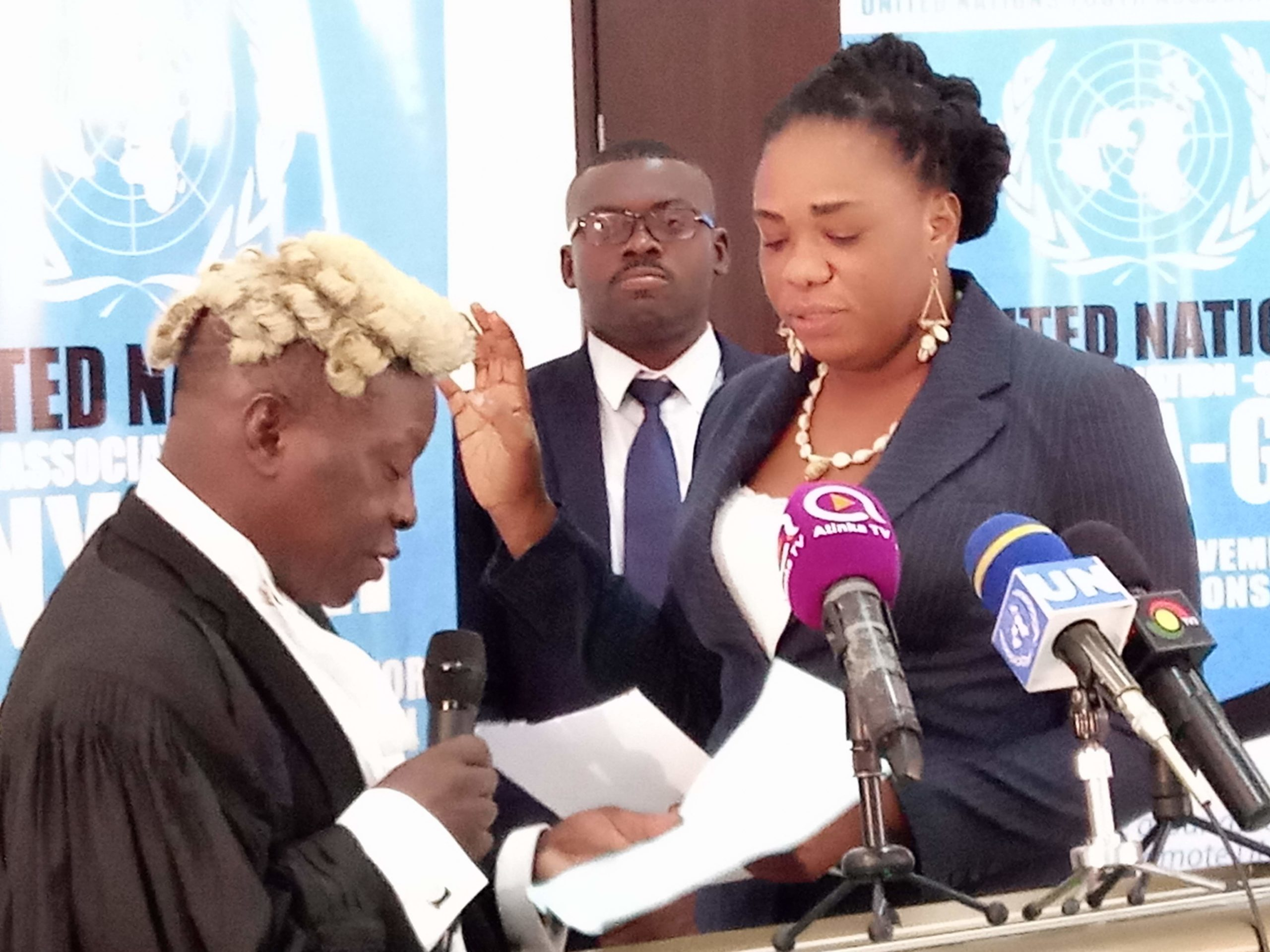 UNITED NATIONS YOUTH ASSOCIATION-GHANA SWEARS IN NEW EXECUTIVES