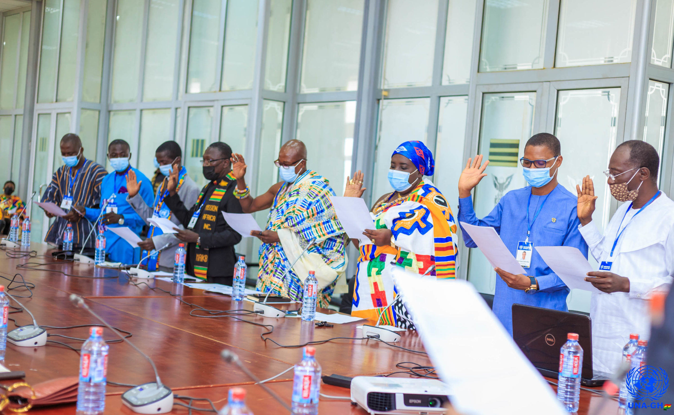 Read more about the article Induction Of UNA-GH National Executives